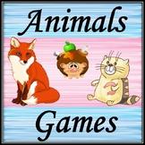 Animals games. English version.