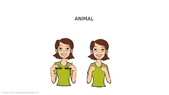 Animals in American Sign Language