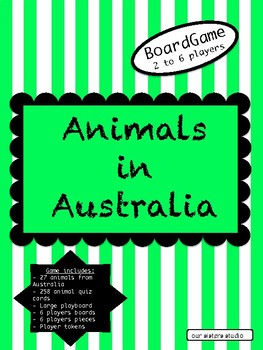 Animals in Australia Boardgame