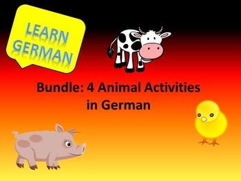 Animals in German - Bundle
