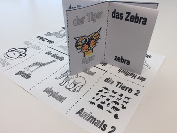 Animals in German 2 - Foldable Mini Booklet