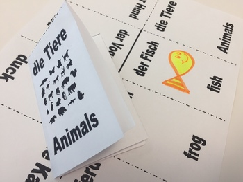 Animals in German - Foldable Mini Booklet