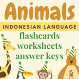 Animals in Indonesian (Flashcards & Worksheets for Classro
