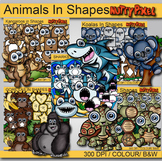 Animals in Shapes - Shapes Clip Art Bundle