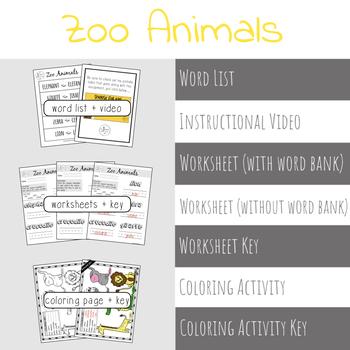 Animals in Spanish BUNDLE | Spanish Vocabulary