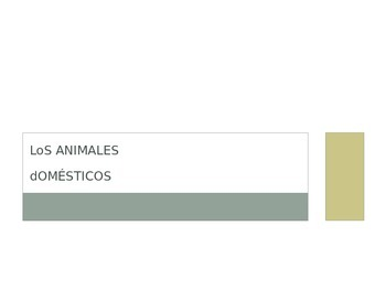 Animals in Spanish PowerPoint! Los animales