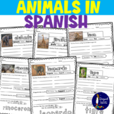 Animals in Spanish Worksheets and BOOM Cards