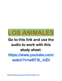 Animals in Spanish (listening activity)