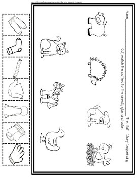 foldable hat coloring pages | Animals With A Hat Early Emergent Foldable Reader ~PLUS ...