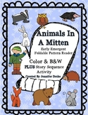 Animals in A Mitten Early Emergent Foldable Reader ~PLUS story sequence~