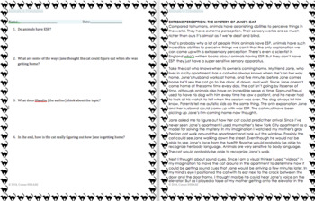 Animals in Translation by Grandin - Text and 4 Question Quiz for Excerpt