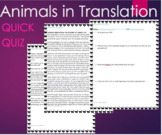Animals in Translation by Grandin - Text and 4 Question Qu