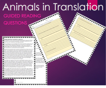 Animals in Translation by Temple Grandin - Text Excerpt with Questions