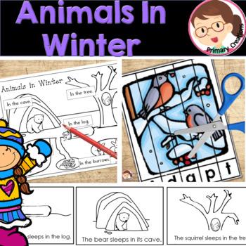 Animals in Winter Preschool and PreK Literacy Activities