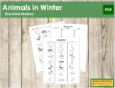 Animals in Winter - Blackline Masters