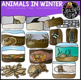 Animals in Winter Clip Art Set {Educlips Clipart}