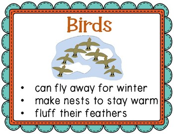Animals in Winter Elementary Thematic Unit for Grades K-2