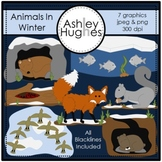 Animals in Winter Clipart {A Hughes Design}
