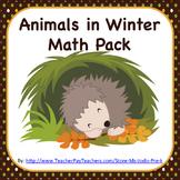 Animals in Winter Math Pack