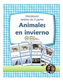 Animals in Winter Montessori 3 Part Cards SPANISH