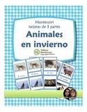 Animals in Winter Montessori 3 Part Cards SPANISH