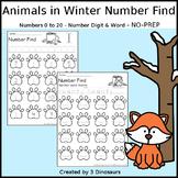 Animals in Winter Number Find