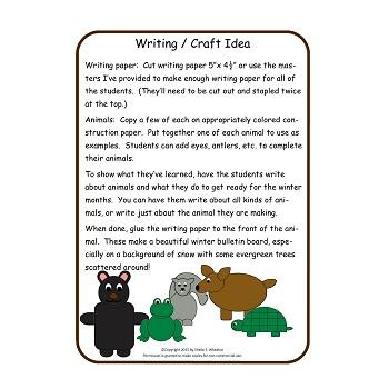 Animals in Winter Packet: Featuring a Lift-the-Flap Book for Students!