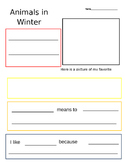 Animals in Winter Research Paper Outline