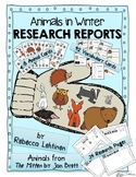 Animals in Winter Research based on The Mitten by Jan Brett  {QR Codes} NO PREP