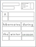 Animals in Winter: Sentence Prompts (4) with rubric (differentiated versions)