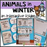 Animals in Winter nonfiction interactive notebook folder