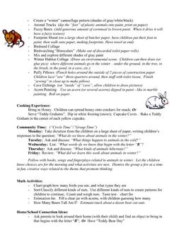 Animals in Winter curriculum unit