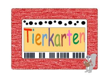 Animals in german. Flash cards with Animals. Montessori education