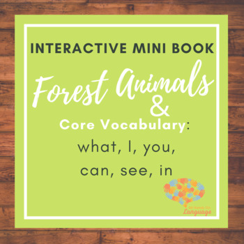 Animals in the Forest! Interactive Mini-Book Autism Support