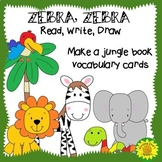 ZEBRA, ZEBRA: Read, Write and Draw Book