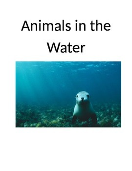 Animals in the Water Story, Matching Cards and Worksheet