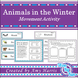 Animals in the Winter Movement Activity