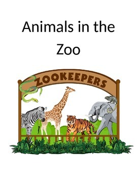 Animals in the Zoo Story, Matching Cards and Worksheet