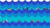 Animals lost in the ocean - green screen activity (categories: animals)