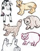 Animals mothers and babies File Folder Game