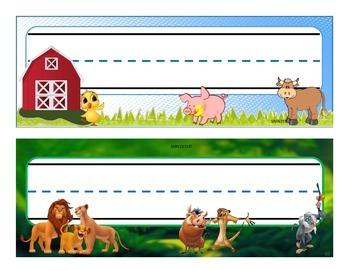 Animals nameplates