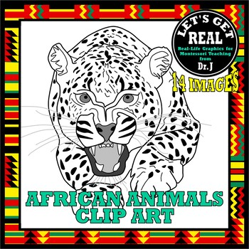 Animals of Africa Clip Art Images