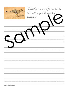 Animals of Africa Unit - Copywork - Print and Cursive - Handwriting