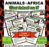 Animals of Africa Facts - Who Am I? Cards - Game - Posters