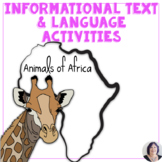 Informational Text for Special Ed Autism Animals of Africa