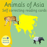 Animals of Asia - Montessori 3 - Part Cards