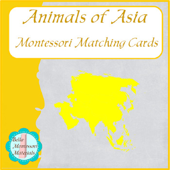 Animals of Asia - Montessori Matching Cards