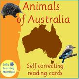 Animals of Australia - Montessori 3 - Part Reading Classification