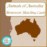 Animals of Australia - Montessori Matching Cards