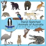 Animals of Australia, clip art, Australian Animals, clipart